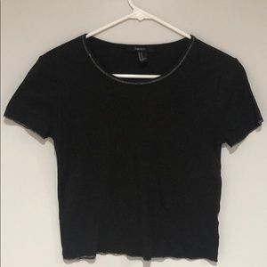 🧡2 FOR $15🧡Forever 21 CropTop w/Silver Stitching